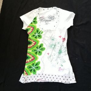 Desigual XS Top with Capped Sleeves